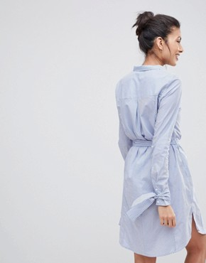 photo Tie Sleeve Shirt Dress by Y.A.S Tall, color Stripe - Image 2