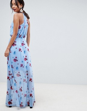 photo Poppy Print Woven Maxi Dress by Y.A.S Tall, color Multi - Image 2