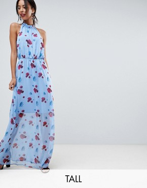 photo Poppy Print Woven Maxi Dress by Y.A.S Tall, color Multi - Image 1