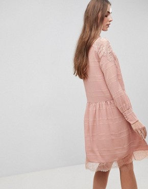 photo Lace Detail Skater Dress by Y.A.S Tall, color Rose - Image 2