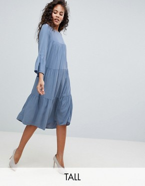 photo Tiered Dress by Y.A.S Tall, color Blue - Image 1