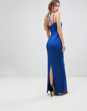 photo Zoe Strappy Maxi Prom Dress by Coast, color Blue - Image 2