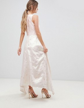 photo Pearl Metallic Maxi Dress by Coast, color Soft Pink/Off White - Image 2