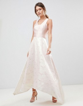 photo Pearl Metallic Maxi Dress by Coast, color Soft Pink/Off White - Image 1