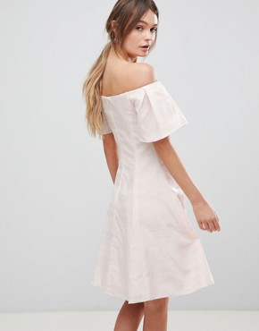 photo Danielle Sparkle Skater Dress by Coast, color Off White - Image 2