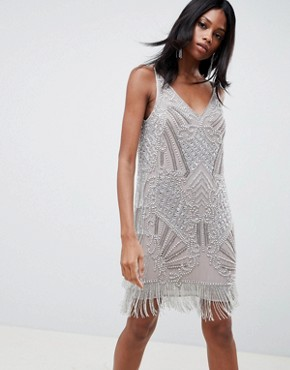 photo Embellished Cami Mini Dress by ASOS EDITION, color Silver - Image 1