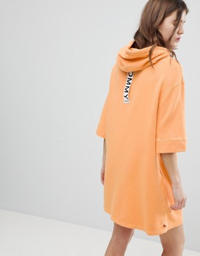 photo Hoodie Dress with Back Logo Detail by Tommy Hilfiger, color Yellow - Image 2