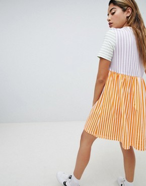 photo Pop Stripe Smock Dress by Noisy May, color Multi - Image 2
