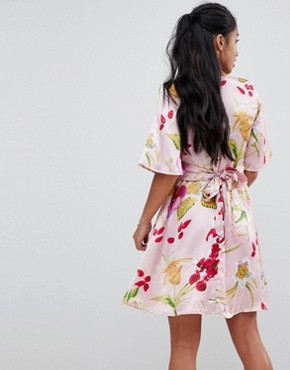 photo Floral Tie Dress by Vero Moda Petite, color Zephyr - Image 2