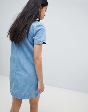 photo Aubrey Denim Shift Dress by Ryder, color Blue - Image 2