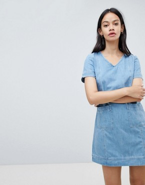 photo Aubrey Denim Shift Dress by Ryder, color Blue - Image 1