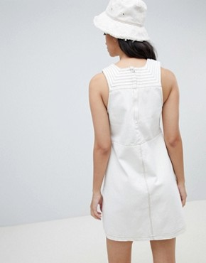 photo Bonnie Denim Sleeveless Shift Dress by Ryder, color Natural - Image 2