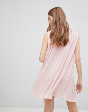 photo Contrast Bow Dress by Vila, color Peach Whip - Image 2