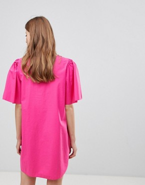 photo Shift Dress with Voluminous Sleeves by Vila, color Beetroot Purple - Image 2