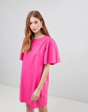 photo Shift Dress with Voluminous Sleeves by Vila, color Beetroot Purple - Image 1
