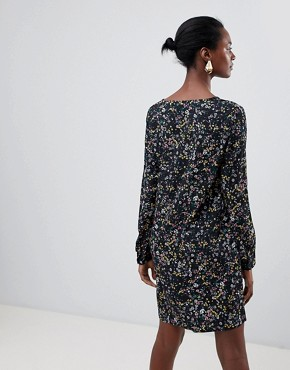 photo Floral Shift Dress by Vila, color Black - Image 2