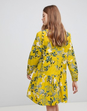 photo Floral Smock Dress by Vila, color Nugget Gold - Image 2