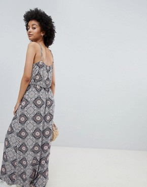 photo Tile Print Maxi Dress by Only, color Multi - Image 2