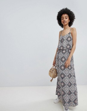 photo Tile Print Maxi Dress by Only, color Multi - Image 1