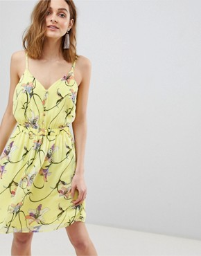 photo Bright Floral Mini Dress by Vero Moda, color Yellow Aop - Image 1