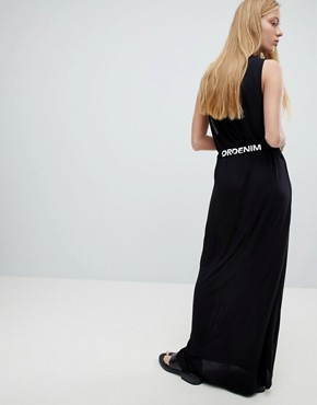 photo Maxi Jersey Dress with Logo Belt by Dr Denim, color Black - Image 2