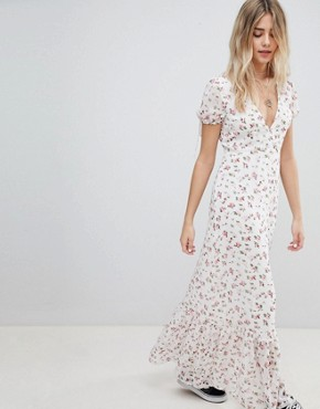 photo Maxi Tea Dress in Vintage Floral by Emory Park, color Cream Multi - Image 1