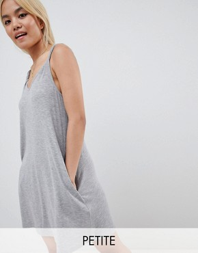 photo Jersey Cami Dress by Vero Moda Petite, color Grey - Image 1