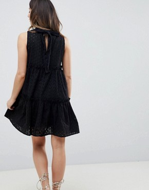 photo Sleeveless Broderie Trapeze Dress by ASOS Maternity Ultimate, color Black - Image 2