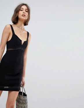 photo Bodycon Slip Dress by Free People, color Black - Image 1