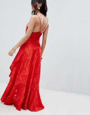 photo Buona Serra Cut Out Maxi Dress by Free People, color Red - Image 2