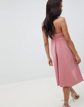 photo Maternity Scuba Cami Prom Midi Dress by ASOS DESIGN, color Mink - Image 2