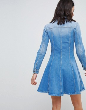 photo Denim Shirt Dress by Tommy Hilfiger, color Skylar Blue - Image 2