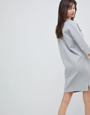 photo Sweatshirt Dress by Selected, color Grey - Image 2