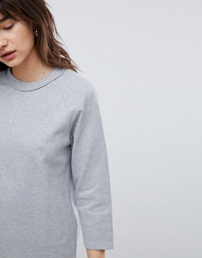 photo Sweatshirt Dress by Selected, color Grey - Image 3