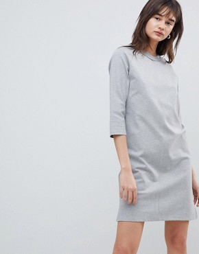 photo Sweatshirt Dress by Selected, color Grey - Image 4