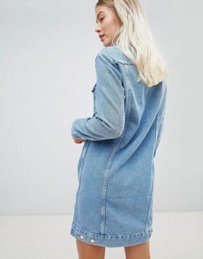 photo Denim Trucker Dress by Wrangler, color Stone Wash - Image 2