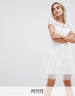 photo Lace Prom Dress by Vero Moda Petite, color Snow White - Image 1