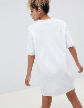 photo Knitted t-shirt Dress with Pointelle Stitch Detail by ASOS DESIGN Petite, color White - Image 2
