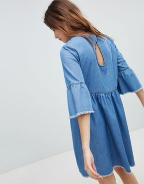 photo Denim Skater Dress by JDY, color Medium Blue Denim - Image 2