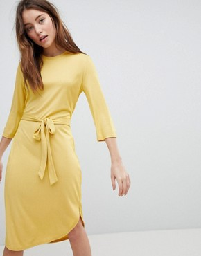 photo Jersey Dress with Tie by JDY, color Yellow - Image 1
