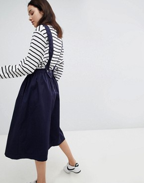 photo Cotton Apron Dress by Mads Norgaard, color Navy - Image 2