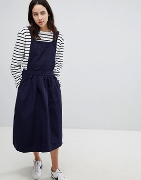 photo Cotton Apron Dress by Mads Norgaard, color Navy - Image 1