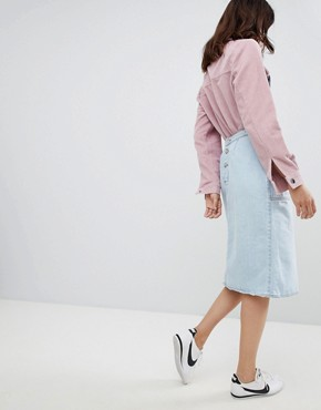 photo Denim Pinafore Dress by Mads Norgaard, color Light Blue - Image 2