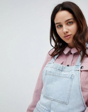 photo Denim Pinafore Dress by Mads Norgaard, color Light Blue - Image 3