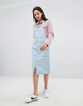photo Denim Pinafore Dress by Mads Norgaard, color Light Blue - Image 4