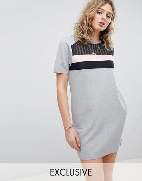 photo Exclusive Sweat Dress with Inserted Mesh by Maison Scotch, color  - Image 1