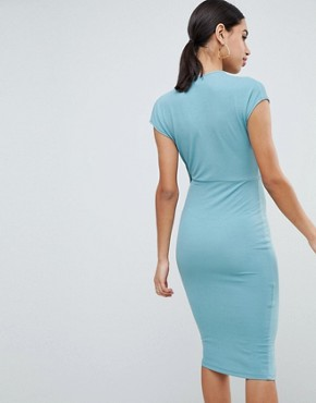 photo Drape Front Dress by ASOS DESIGN, color Duck Egg - Image 2