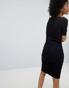 photo Ruched Dress by Monki, color Black - Image 2