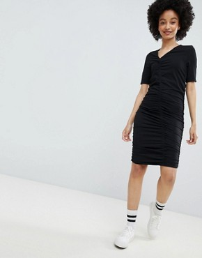 photo Ruched Dress by Monki, color Black - Image 1