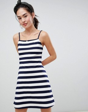 photo Mini Square Neck Sundress in Stripe by ASOS DESIGN, color Navy/White Stripe - Image 1
